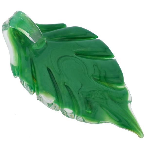 Green Daisy Leaf Pendant