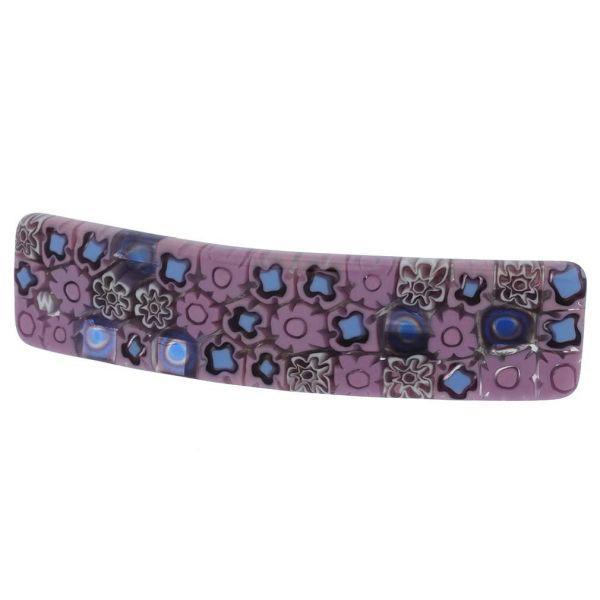 Murano Millefiori Hair Clip - Lavender