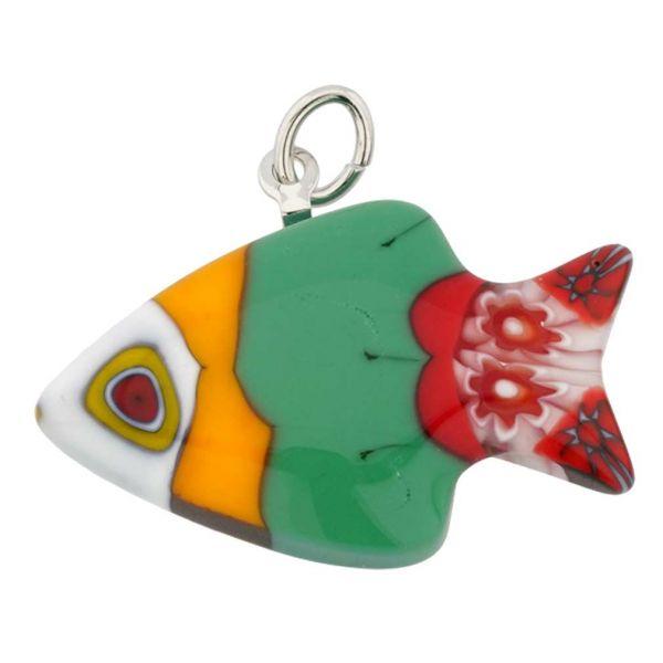 Millefiori Small Fish Pendant