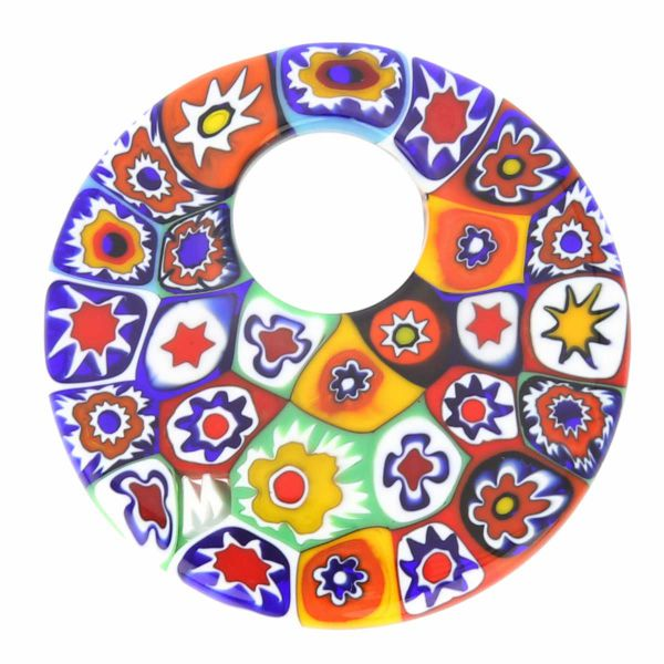 Millefiori Medium Round Pendant - Multicolor