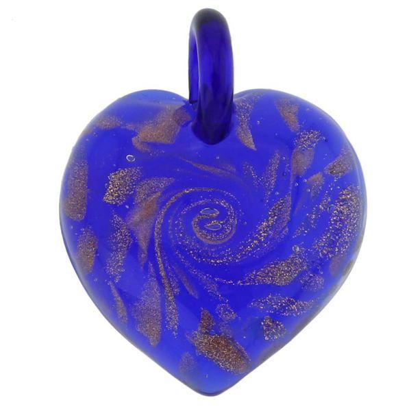 Tender Heart Pendant - Sparkling Blue