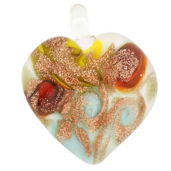 Tender Heart Pendant - Aqua Twist