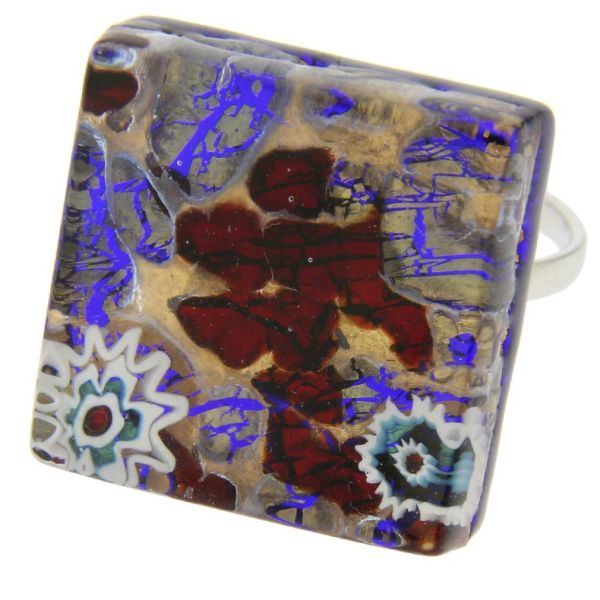 Venetian Reflections Ring - Square With Adjustable Band