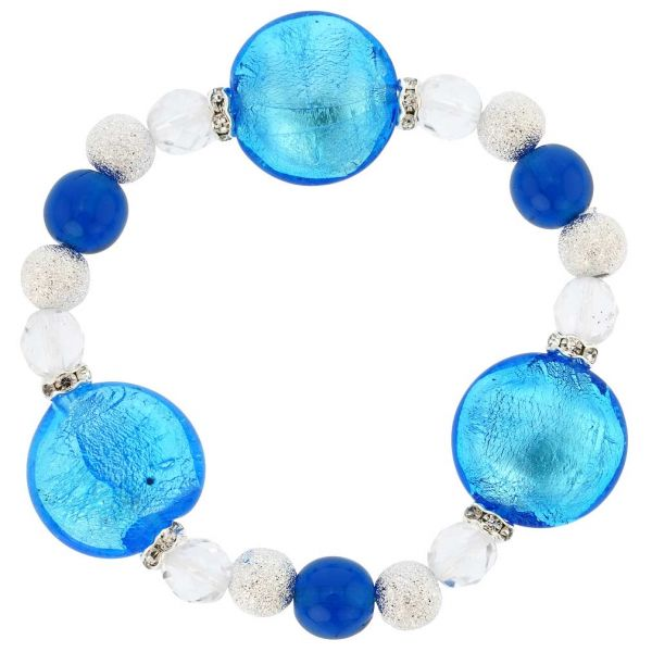 Murano Magic Bracelet - Aqua Blue