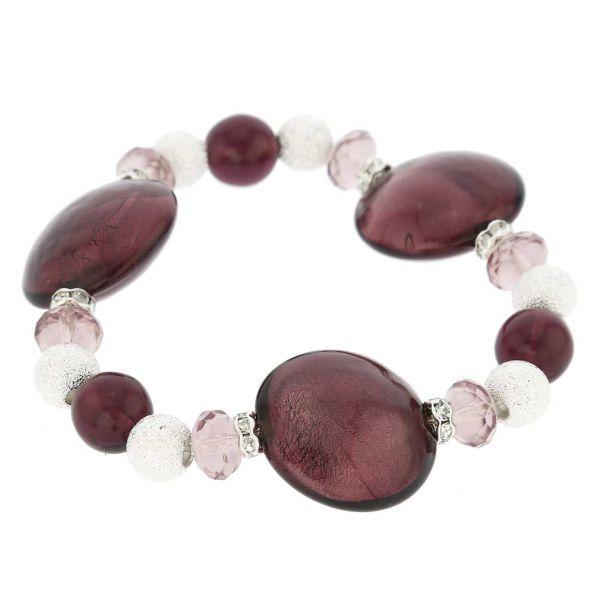 Murano Magic Bracelet - Plum