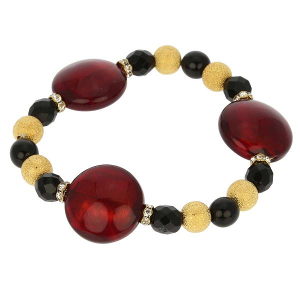 Murano Magic Bracelet - Ruby Red