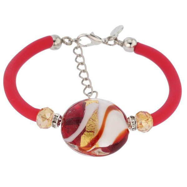 Venice Diva Bracelet - Red and Gold
