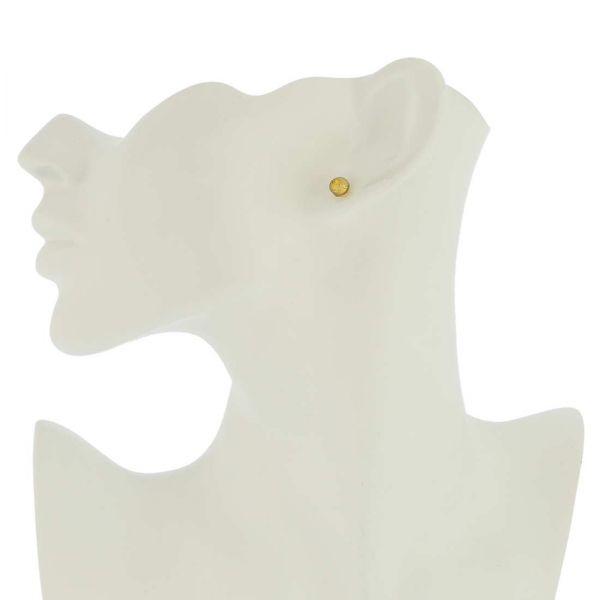 Murano Tiny Stud Earrings - Gold