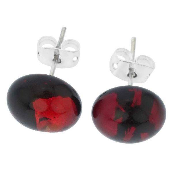 Venetian Reflections Round Stud Earrings