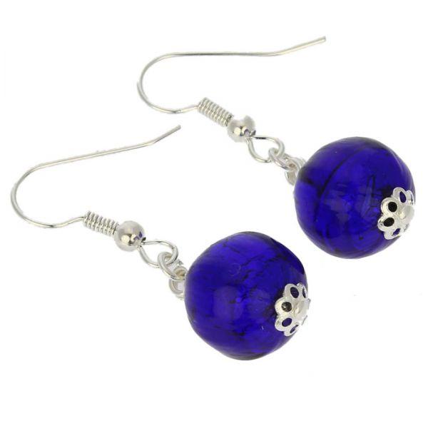 Murano Midnight Earrings