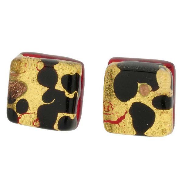 Venetian Reflections Square Stud Earrings #10