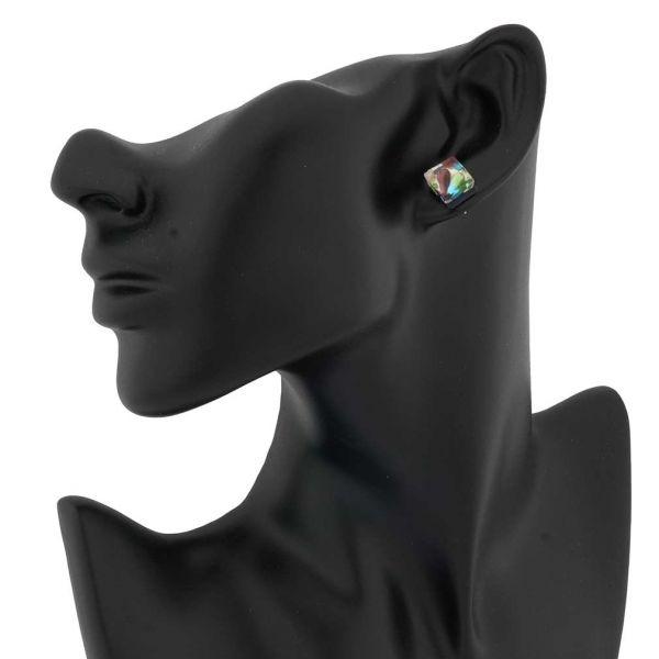 Venetian Reflections Square Stud Earrings #6