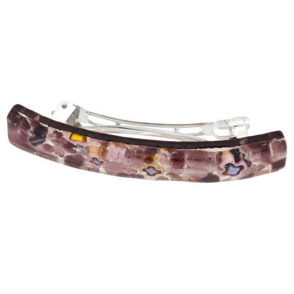 Venetian Reflections Hair Clip - Large Purple