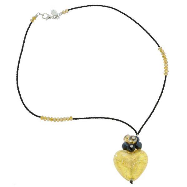 Venetian Love Heart Necklace - Gold
