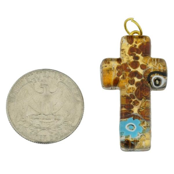 Venetian Reflections Cross Pendant #2