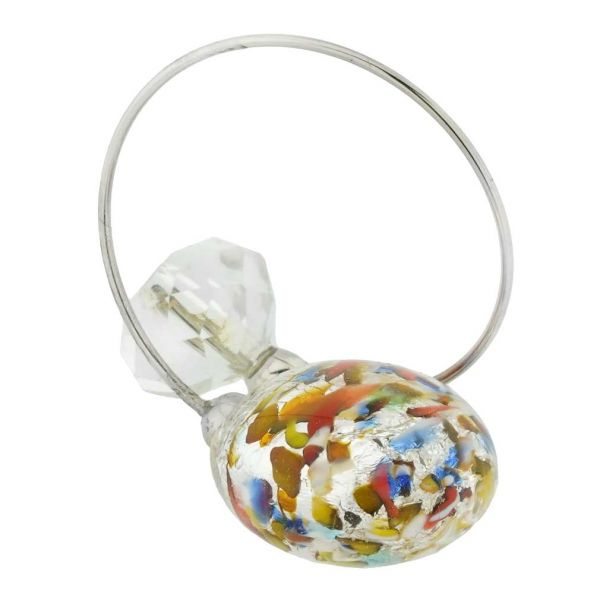 Lagoon Reflections Ring - Silver Multicolor