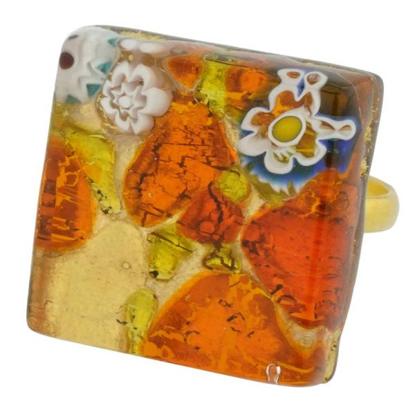 Venetian Reflections Ring - Square With Adjustable Band #3