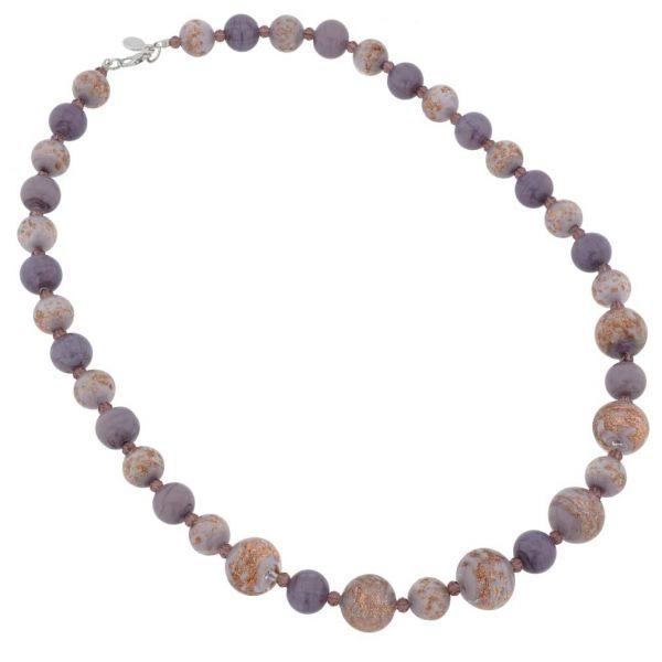 Starlight Murano Necklace - Purple
