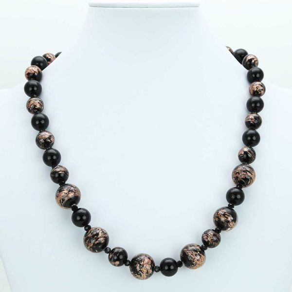 Starlight Murano Necklace - Black