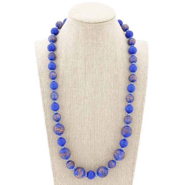 Starlight Murano Necklace - Cobalt Blue