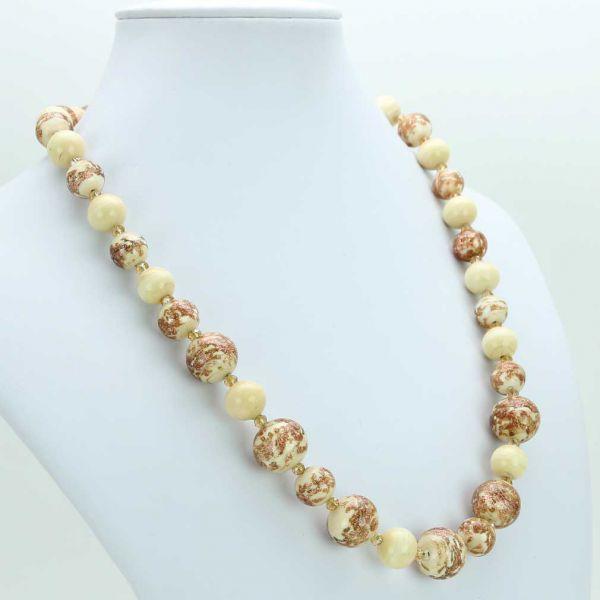 Starlight Murano Necklace - Milky White