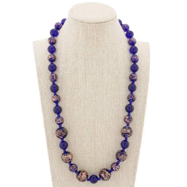 Starlight Murano Necklace - Navy Blue