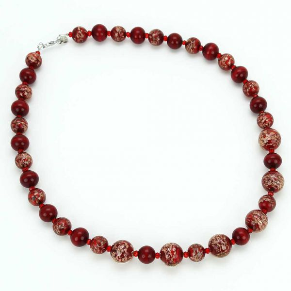Starlight Murano Necklace - Red