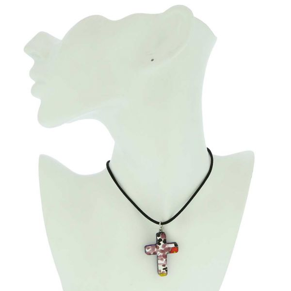 Venetian Reflections Cross Pendant #1