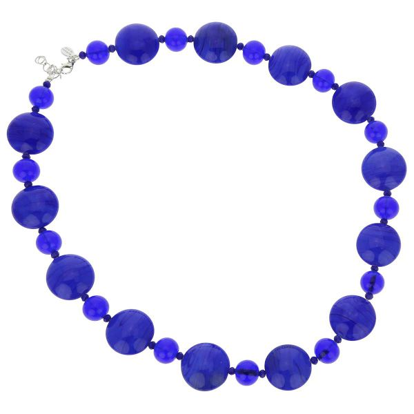 Murano Wonders Necklace - Navy Blue