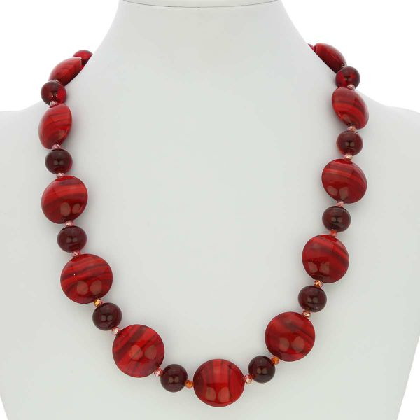 Murano Wonders Necklace - Ruby Red