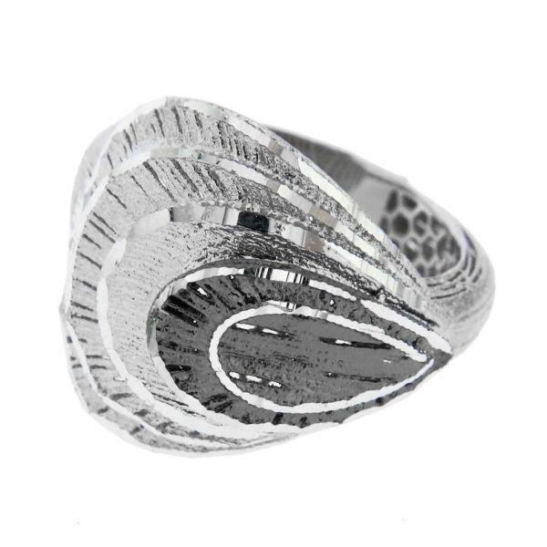 Fancy Fan Italian Sterling Silver Ring