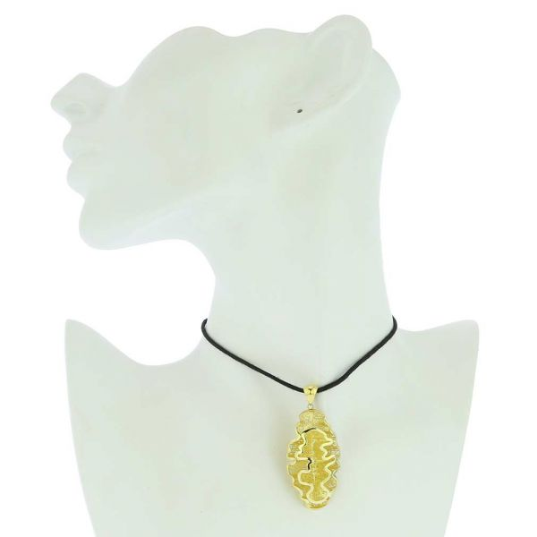 Fluid Flower Sterling Silver Gold-Plated Pendant