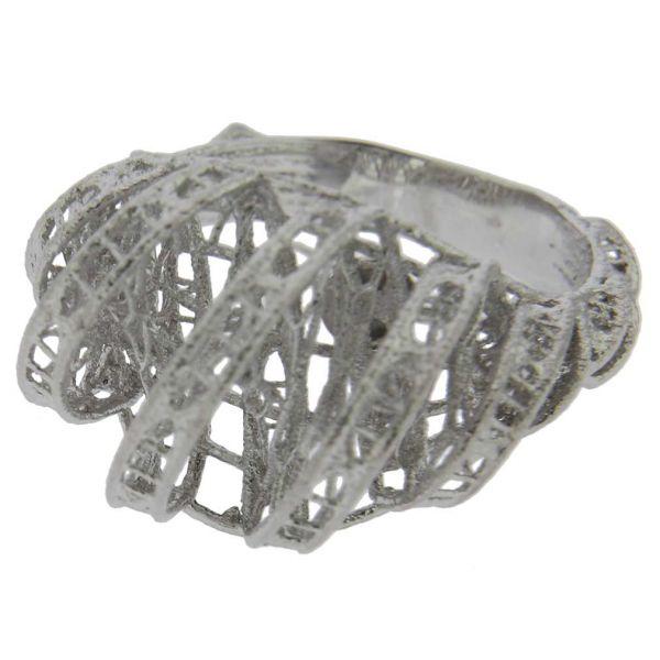 Merletto Italian Sterling Silver Ring