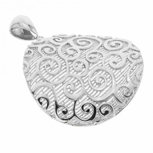 Graceful Twists Sterling Silver Pendant