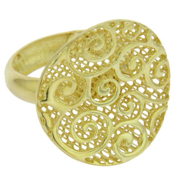 Graceful Twists Sterling Silver Gold-Plated Ring