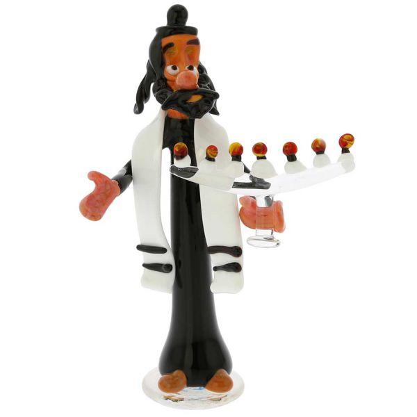 Murano Glass Rabbi With Menorah