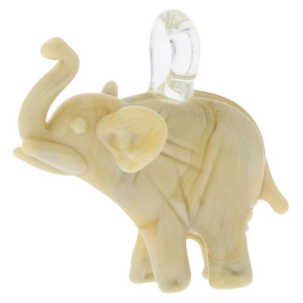 Murano Glass Elephant Pendant