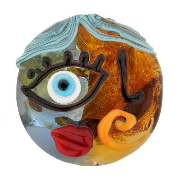 Picasso Face Murano Pendant