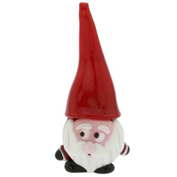 Murano Glass Santa Christmas Ornament Figurine