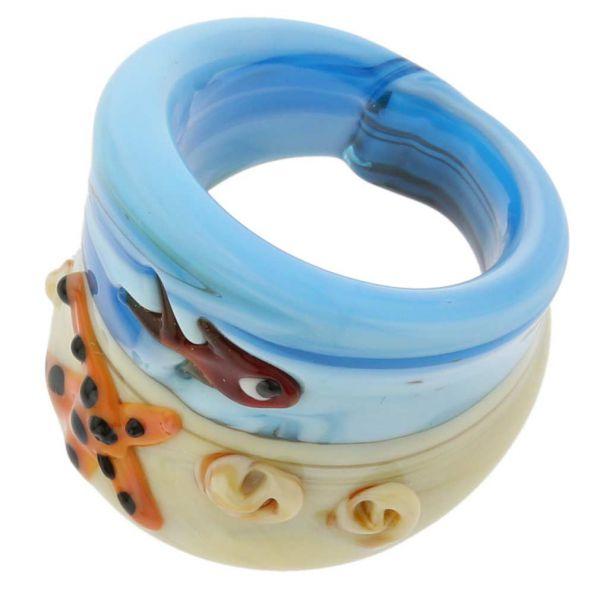 Ocean Life Murano Ring