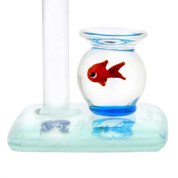 Murano Glass Faucet and Aquarium With Fish