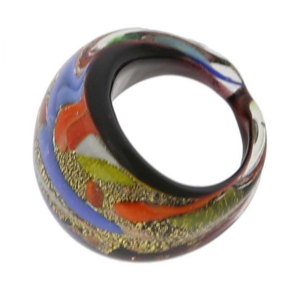 Avventurina Starry Night Ring In Domed Design