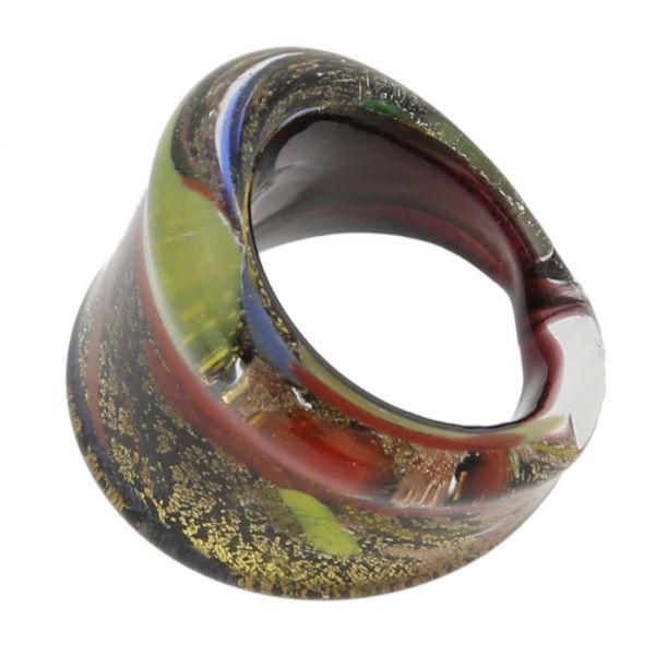 Avventurina Starry Night Ring In Flat Design