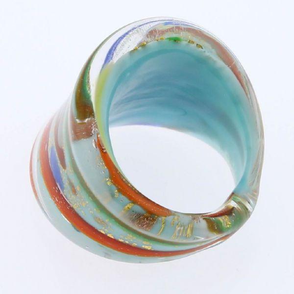 Avventurina Ocean Sunrise Ring In Flat Design