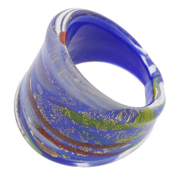 Avventurina Sunny Sky Ring In Flat Design