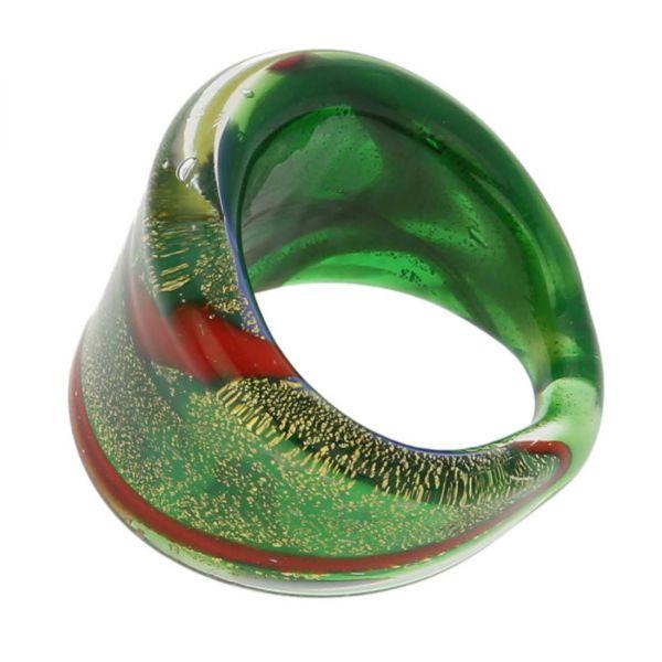 Avventurina Summer Meadow Ring In Flat Design