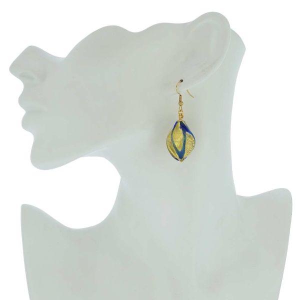 Royal Blue Spiral Earrings