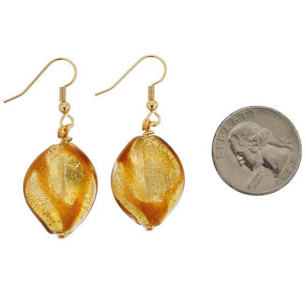 Royal Cognac Spiral Earrings