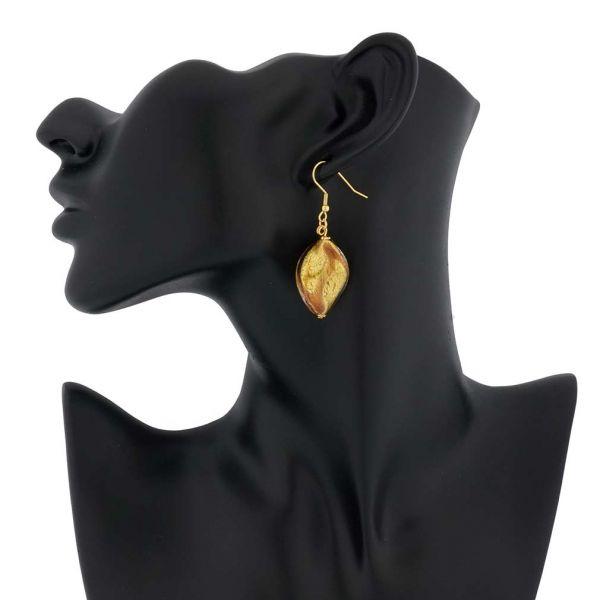Royal Purple Spiral Earrings