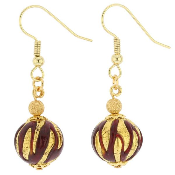 Royal Red Ball Earrings